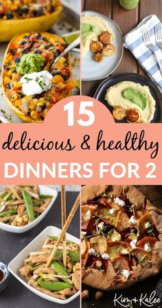 You'll love these healthy dinner ideas for two that taste good & are quick to make! Chicken, seafood, and vegetarian dishes that are nutritious & delicious! Clean Eating Recipes, Easy Dinner Recipes, Healthy Dinner Recipes, Real Food Recipes, Healthy Eating, Cooking Recipes, Dinner Ideas, Yummy Recipes, Whole30 Recipes