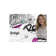 Bridgit Mendler Smile it's still Free! ❤ liked on Polyvore