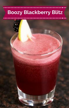 It's not an enjoyable hot summer day without a refreshing cocktail right? Clinton Kelly's Boozy Blackberry Blitz is just the fruit-flavored drink you need!