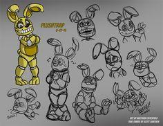 FNAF - Plushtrap Sketches 01 - by on DeviantArt Fnaf 1, Anime Fnaf, Freddy 's, Fnaf Sister Location, Fnaf Characters, Fnaf Drawings, My Little Baby, Five Nights At Freddy's, Cosplay
