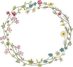 Porzellan, Vorlage - Fonts and Clipart -Druck, Porzellan, Vorlage - Fonts and Clipart - Wreath Watercolor, Watercolor Leaves, Watercolor Paintings, Flower Watercolor, Flower Circle, Flower Frame, Flower Art, Tattoo Bunt, Corona Floral