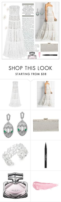 """Fairy White"" by sanya-alie ❤ liked on Polyvore featuring Lanvin, Bulgari, Judith Leiber, Kate Spade, Trish McEvoy, Gucci, By Terry and Uttermost"