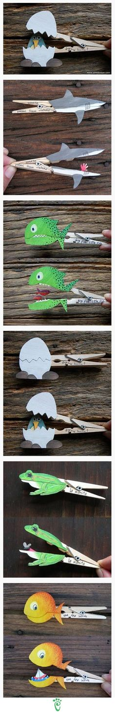 These would keep kids entertained for awhile... plus the ideas can be endless on what to put on the clothes pins