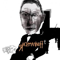 rachmaninoff music composer classical illustration drawing