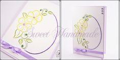 • Sweet Handmade •: Broderie pe Hartie. Marco ovalado con flores