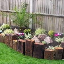 Image result for garden design sleeper steps