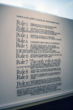 new rules? Only some of these make complete sense, I wouldn't follow all of them.