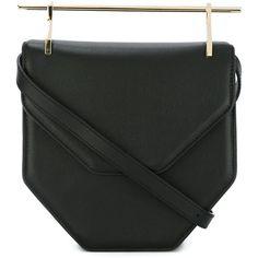 M2malletier 'Lipstick' cross body bag ($1,825) ❤ liked on Polyvore featuring bags, handbags, shoulder bags, black, purses, man bag, crossbody purses, purse cross body, purse shoulder bag and hand bags
