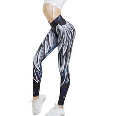 640dbfe5a791f5 2018 New Arrival Angel Wing Women Leggings 3D Printed Leggings Push Up  Sporting Fitness Bodybuilding Best Printed Fashion Leggings