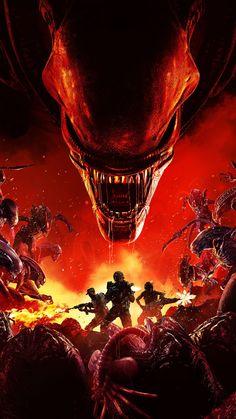 Aliens Fireteam Elite Game Poster 4K Ultra HD Mobile Wallpaper. Trending Hashtags Today, Elite Game, Aliens Movie, Alien Vs Predator, Mobile Wallpaper, Game Art, Sailor, Video Game, Games
