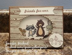 Stampin' Up! Stampin' Up! We Must Celebrate Shaker Card in very vanilla with hardwoods background