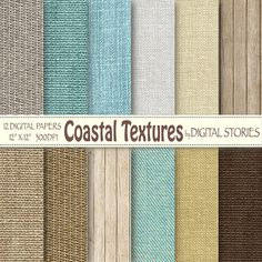 Beach digital paper COASTAL TEXTURES Burlap by DigitalStories, €2.80