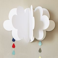 Fluffy Clouds DIY Baby Shower Decorations