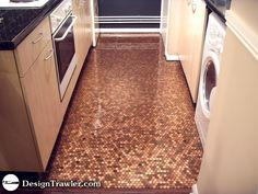 Copper penny floors