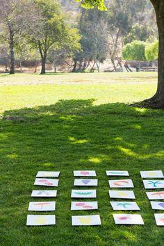 DIY Lawn Matching Game | 20 DIY Summer Games To Entertain Kids