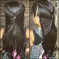Beautiful butterfly braid for Arianna. And today (9-1-15) We did it and it looks…