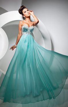 Tube Ball Gown Prom Dresses Blue Long Prom Dresses 00782 ...