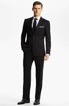 Trim Fit Wool Suit (Free Next Day Shipping)