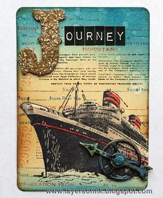 Distress Travel ATCs - Layers of ink - nice tips on making these