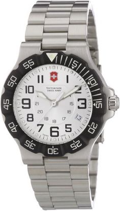 Victorinox Swiss Army Men's 241346 Summit XLT Watch Victorinox Swiss Army. $241.44. Stainless steel case, steel bracelet. Case diameter: 39 mm. Water-resistant to 330 feet (100 M). Date display. Luminous hands and hour markers. Save 39% Off!