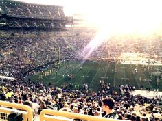 Artsy Abroad: August 2013 - evening sun shines down on the Green Bay Packers at Lambeau Field during a preseason game.
