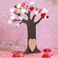 Tarjeta del árbol de las hadas para San Valentín
