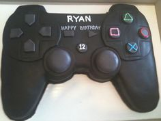 Play Station Controller Cake - For all your cake decorating supplies, please… 13 Birthday Cake, 13th Birthday Parties, Boy Birthday, Video Game Cakes, Video Game Party, Cake Decorating Supplies, Cookie Decorating, Playstation Cake, Xbox Cake