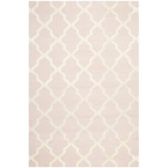 Traditional Handmade Cambridge Moroccan Light-Pink Wool Rug | Overstock.com Shopping - The Best Deals on 7x9 - 10x14 Rugs