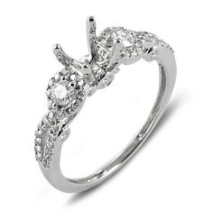 0.70 Carat (Ctw) 14k White Gold Round Diamond Ladies Bridal Semi Mount Ring Engagement (No Center Stone) DazzlingRock Collection, http://www.amazon.com/dp/B004VGTV72/ref=cm_sw_r_pi_dp_L.6Qqb05PC55A
