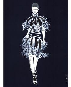 Anna Granat Fashion Illustration' Alexander McQueen Spring 2014 #fashion #illustration #fashionillustration #aquarelle #ink #art #annagranat