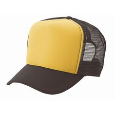 Plain gold front/ brown mesh Trucker hat mesh hat - Blank Plain Trucker Hats : Make a wilderness explorer hat with badges too!
