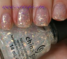 China Glaze Luxe and Lush  [ my new favorite holographic nail polish ]