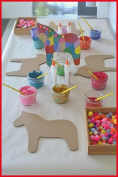 Dala Horse Party Craft - DIY crafts for the kiddos this Cinco de Mayo. Create your own colorful pinata to show off during yo - : Dala Horse Party Craft - DIY crafts for the kiddos this Cinco de Mayo. Create your own colorful pinata to show off during yo - Diy Party Games, Diy Party Crafts, Party Ideas, Diy Ideas, Party Favors, Decor Ideas, Decor Crafts, Room Ideas, Kids Crafts