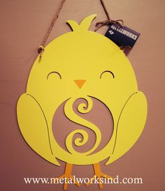 Hey, I found this really awesome Etsy listing at https://www.etsy.com/listing/225131585/metal-monogram-easter-chick