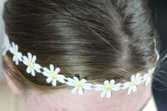 Daisy Headband Flower Crown Daisy Chain Crown Hippie by ScarfFX, $6.50