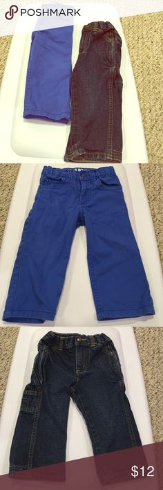Carters pants bundle Carpenter style jeans, and mini blue jeans. Both carters brand size 12 months Bottoms