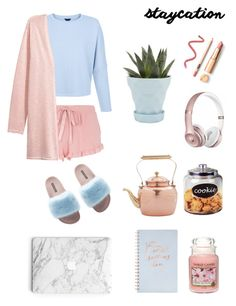 """""""Staycation"""" by elle906 on Polyvore featuring moda, Dorothy Perkins, Dolce&Gabbana, Yankee Candle, Fringe, Chive, Old Dutch e Beats by Dr. Dre"""