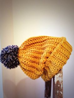 Mustard Yellow Classic Soft Ribbed Ski Hat by TheManchesterBee