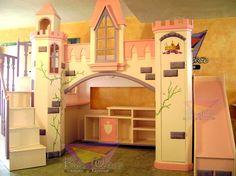 1000 images about girls bedrooms on pinterest princess - Escalera cama infantil ...