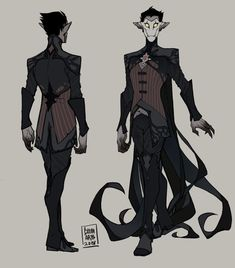 A small dump of my vaguely-spooky character designs! Fantasy Character Design, Character Creation, Character Design Inspiration, Character Concept, Character Art, Concept Art, Dnd Characters, Fantasy Characters, Dark Fantasy