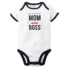 Carters Boys White Dad And I Agree Mom Is The Boss Bodysuit