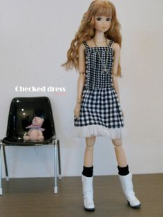 Checked Dress by Hinyan on Etsy