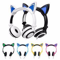 """Cat Ears"" LED Lighted Headphones (6 Colors)"