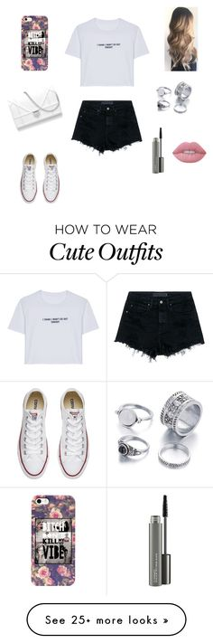 """Cute outfit"" by stuff4m on Polyvore featuring WithChic, Alexander Wang, Converse, MAC Cosmetics and Lime Crime"