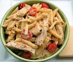 Grilled chicken ceasar pasta- easy weeknight dinner