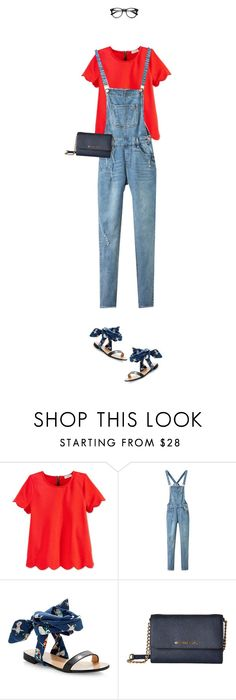 """""""Tricky Trend: Overalls"""" by joelleduffin ❤ liked on Polyvore featuring Monteau, MSGM, MICHAEL Michael Kors, TrickyTrend and overalls"""