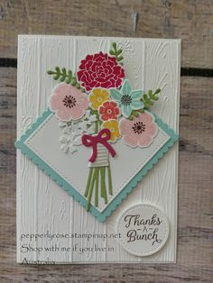 Pepperly Rose- Maria Kandylas Independent Stampin Up Demonstrator: Stampin Up! Beautiful Bouquet and Pinewood Planks ...