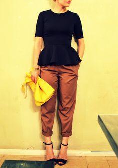 brown, black, yellow