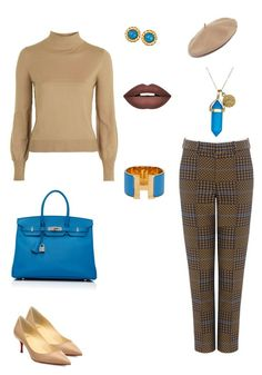 """""""Some more 60's inspo."""" by theharlemhippie-sharema on Polyvore featuring Topshop, Karen Walker, Christian Louboutin, Halogen, Hermès, Chanel, Dee Berkley and Forever 21"""