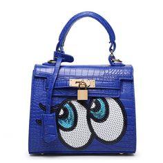 VEEVAN the new spring and summer 2016 bag bag Shoulder Messenger Bag Korean crocodile eyes Kylie bag
